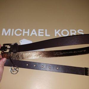 Michael Kors Brown Charm Belt Size Large